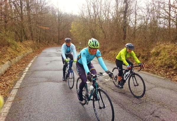 cycling holiday winter